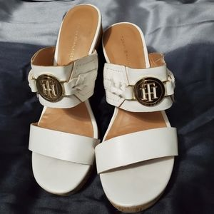 White Tommy Hilfiger wedges great condition 6.5m